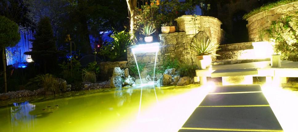 Paysagiste vosges christophe fetten evasion jardin for Eclairage exterieur jardin