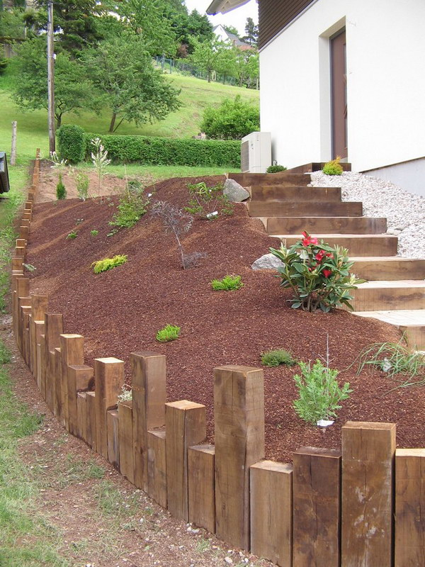 Evasion Jardin Paysagiste Références Escalier Bois Et Pavés